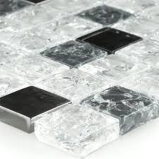 mosaic tiles glass broken effect white