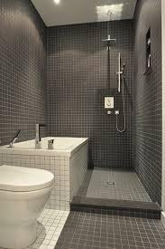 small modern bathroom. Small Modern Bathroom In Dark Tiles