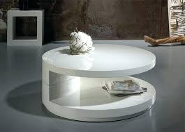 white hi gloss coffee table captivating round home and kitchen with modern next