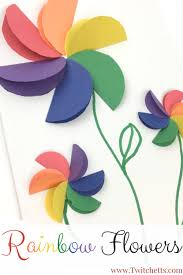these construction paper rainbow flowers are perfect diy paper flowers for your kids to make
