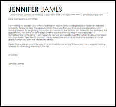 Harvard Acceptance Letter Example Letter Samples Templates