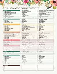The Ultimate House Cleaning Checklist Printable Pdf Projects
