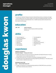 Blue Grey Modern Corporate Resume