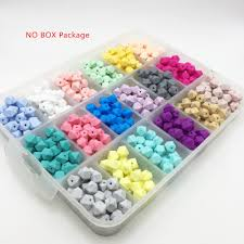 100pc samll <b>Hexagon</b> Silicone <b>11mm</b> Beads Teething Baby ...