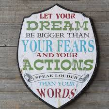 let your dream wooden wall art