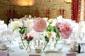 flower for table decoration pink table wedding flowers decoration in small glass jars and ceramic plates flower for table decoration