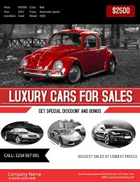 Car For Sale Template Red Car Sale Poster Template Postermywall