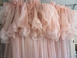 VINTAGE Pale PINK CURTAINS Shabby Chic Feminine