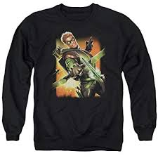 Justice Store Size Chart Justice League Mens Green Arrow 1 Sweater At Amazon Mens