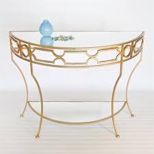 round console table. Treillage Half Round Console Table By Worlds Away FNCAMTREG D