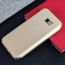 samsung flip phones 2017. official samsung galaxy a5 2017 neon flip cover - gold phones