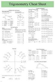 trigonometry cheat sheet poster x user friendly educational  trigonometry cheat sheet poster 24x36 user friendly educational