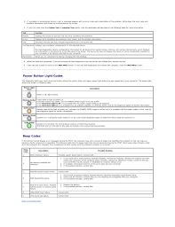 Dell Precision Light Codes Power Button Light Codes Beep Codes Dell Precision T1500