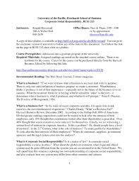 Corporate Social Responsibility Resume Examples Free Resume