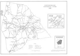 1966 map of northborough worcester co ma with historical sites overlay front view courtesy northborough historical society