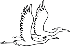 Small Picture Two Egret Are Flying Together coloring page Free Printable