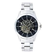 cheap skeleton watch price skeleton watch price deals on get quotations · elgin men s skeleton stainless steel automatic watch