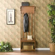 Entrance Bench With Coat Rack Useful and Attractive Entry Bench with Coat Rack Three Dimensions Lab 45