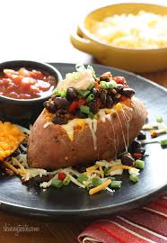 baked sweet potato recipes. Fine Baked Loaded Vegetarian Baked Sweet Potato Are Mexicaninspired Loaded With  Zesty Black Beans On Recipes W