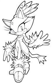 Coloriage Sonic Shadow Sonic Coloring Pages Blaze The Cat A