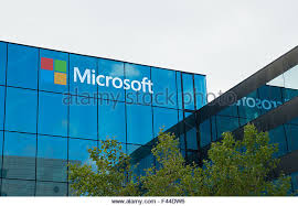 microsoft office headquarters. amsterdam august 28 2015 microsoft logo on office building at amsterdam schiphol airport headquarters