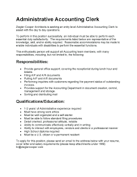 accounting clerk cover letter resume accounts payable description resume image examples