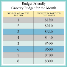 Grocery Chart Grocery Budget 101 Everything You Need To Know