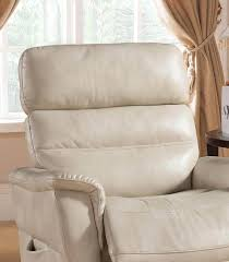 ac pacific avery modern cream leather gel reclining lift chair order