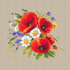 Embroidery Chart Counted Cross Stitch Pattern Embroidery Chart Pdf Bouquet