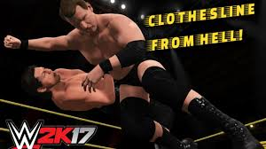 Best Clothesline From Hell WWE 24K24 Fury Clothesline From Hell YouTube 10