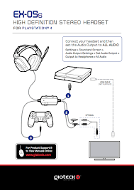 ps4 headset setups from gioteck ps4 headset setup diagrams