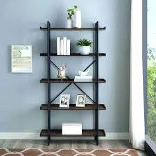 pipe bookshelf ft rustic urban industrial 5 shelf mixed material wood and metal shelves shelving diy