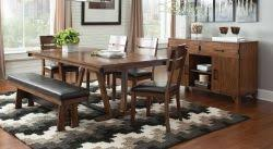 coaster avalon 6 piece dining table set with bench and side chairs coaster fine furniture