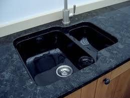 black undermount sink. Brilliant Undermount BLACK BOWL AND HALF FITTED1JPG With Black Undermount Sink U