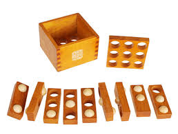 Wooden Games For Adults Difficulty Level 100D Wooden Game Traditional IQ Brain Teaser Puzzle 44