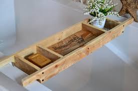 wooden bath shelf diy bathtub tray bath tray
