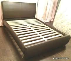 King Size Slatted Bed Frame Bonded Leather With Slats Many Colors ...