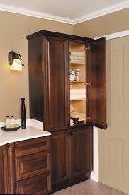 Furniture: Tall Linen Cabinet For Bathroom | Vanity And Linen ...