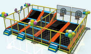 Trampoline bed ,trampoline park professional with stair