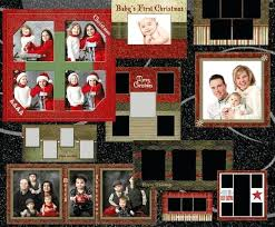 christmas card collage templates free christmas card photo collage template golove co