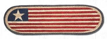 original flag oval stair tread braided treads with rubber backing jute