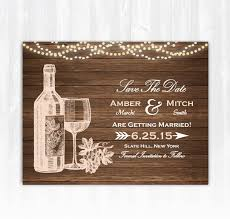 Print Save The Date Cards Winery Save The Date Magnet Or Card Diy Printable Digital File Or