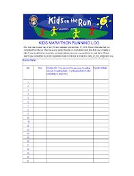 Printable Walking Charts 49 Handy Running Log Templates Walking Charts Template Lab