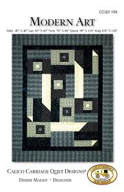 Modern Art Quilt Pattern by Debbie Maddey for Calico Carriage ... & Modern Art Quilt Pattern by Debbie Maddey for Calico Carriage Quilt Designs  #CCQD154 Adamdwight.com