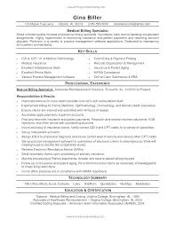 Medical Resume Templates Fascinating Free Medical Billing And Coding Resume Templates Template Resumes