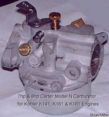 kohler engine electrical diagram craftsman wiring information about the carter kohler and walbro carburetors various fuels and fuel systems