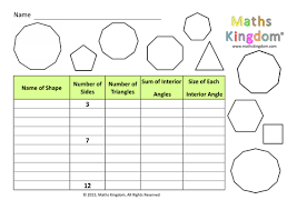 exterior angles of a polygon worksheet tes. investigation interior angles regular polygon by mathskingdom - teaching resources tes exterior of a worksheet o