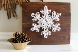 Diy Snowflake String Art 18 Easy To Build Christmas Projects .