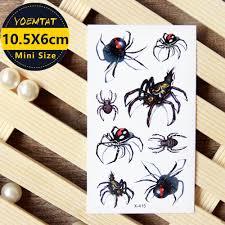 105 6см водонепроницаемый временные татуировки наклейки 3d хэллоуин паук