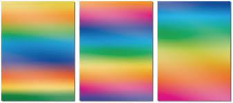 Bastel Künstlerbedarf 3 Blatt Regenbogen Fensterfolie